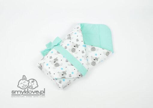 Rożek Cute Teddy z bawełny miętowy - Smyklove