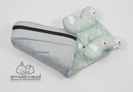 Minky burnout oraz bawełna premium - propozycja wkładki do spacerówki Easygo Domino