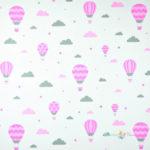 Bawełna różowe balony
