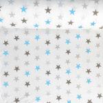 Bawełna gwiazdki niebiesko-szare