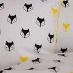 Bawełna liski żółte i czarne
