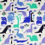 Bawełna dinusie niebieskie-granatowe-turkusowe
