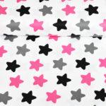 Bawełna pierniki różowe-szare
