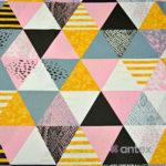 Bawełna różowe trójkąty
