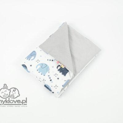 Kocyk velvet w słoniki - SMYKLOVE