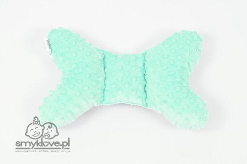 Poduszka motylek z miętowym minky - Smyklove