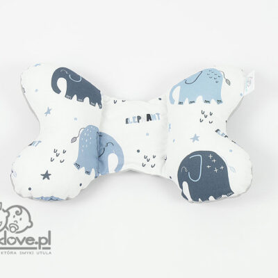 Poduszka motylek w słoniki velvet | Smyklove