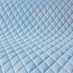 Velvet pikowany romby błękitny