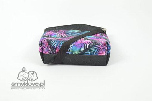 Torba na wózek dziecięcy czarno-fioletowa - SMYKLOVE