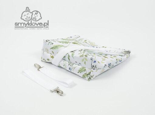 Spód torby orgaizera białego dla mam od Smyklove