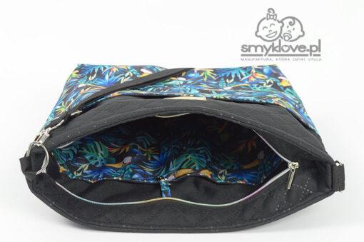 Wnętrze torby do wózka w tukany od Smyklove