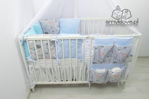 Pandy z balonikami - zestaw premium do łóżeczka niemowlęcego od Smyklove