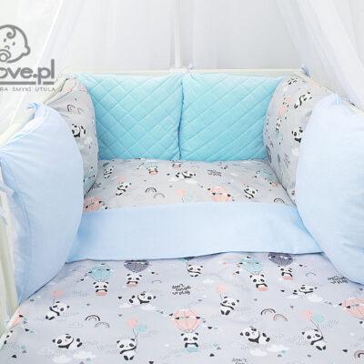 Pościel pandy do łóżeczka - Smyklove hand made