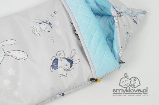 Zbliżenie na śpiworek niemowlęcy Mały Marzyciel - Smyklove