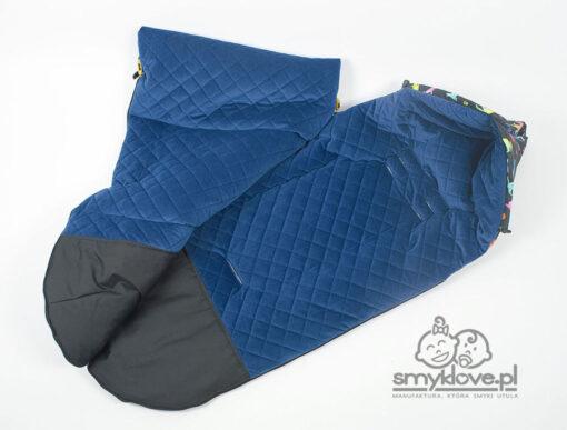 Śpiworek velvet do gondoli lub spacerówki - Smyklove
