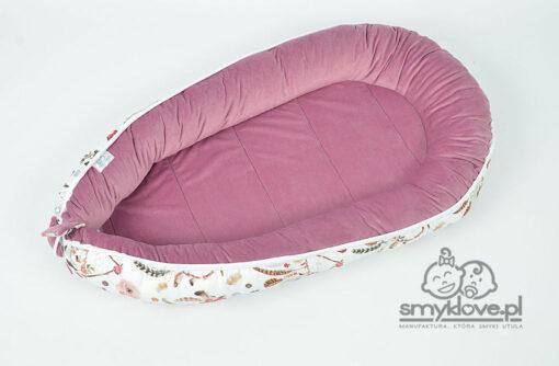 Wrzosowy velvet w kokonie w łapacze snów z manufaktury Smyklove