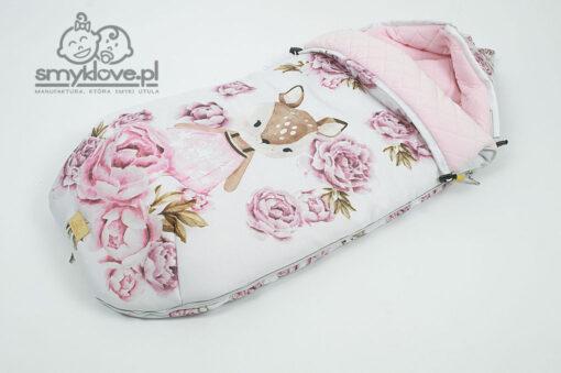 Różowy śpiworek niemowlęcy nieprzemakalny - Smyklove
