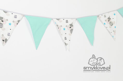 Girlanda trójkąty w misie Cute Teddy z manufaktury Smyklove