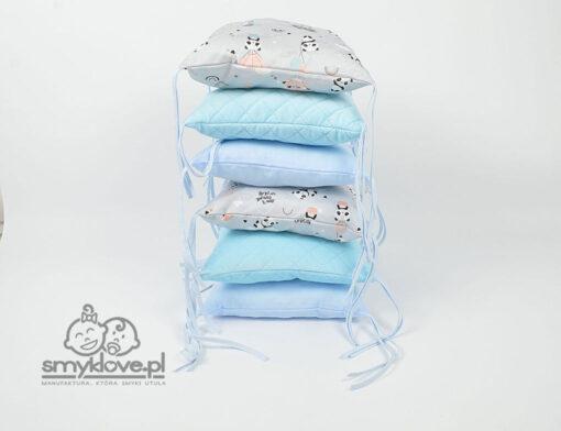 Ochraniacz do łóżeczka pandy z velvetem - Smyklove