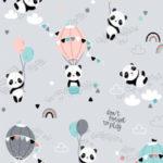 BP04 - Pandy z balonikami na szarym