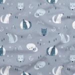 Bawełna premium wilki - Smyklove