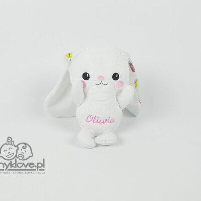 Biała przytulanka króliczek - Smyklove