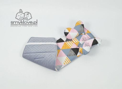 Velvet pikowany i bawełna we wkładce do wózka Wkładka do wózka Abc Design Salsa 4 - SMYKLOVE