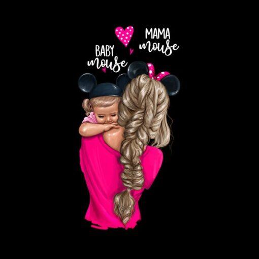 Wzór mama z córką blond