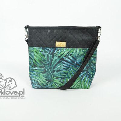 Organizer do wózka liście tropikalne z czarnym - SMYKLOVE