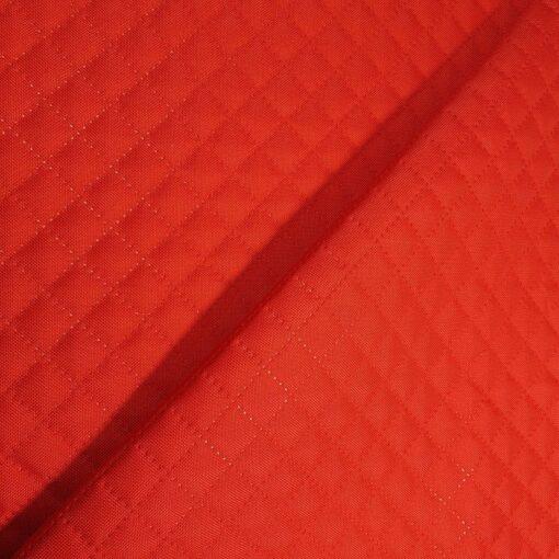 Tkanina pikowana czerwona nieprzemakalna - Smyklove