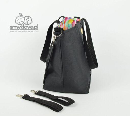 Bok czarnej torby do wózka od Smyklove