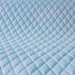 Velvet pikowany romby błękitny – VP01
