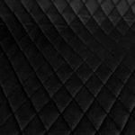 Velvet pikowany czarny