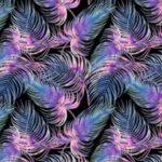 Bawełna premium fioletowe piórka – BP43