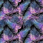 Bawełna premium fioletowe piórka - SMYKLOVE