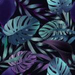 Bawełna premium kwiaty monstery - SMYKLOVE
