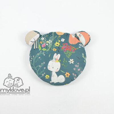 Poduszka miś las kwiaty i zwierzątka - SMYKLOVE