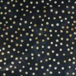 WD07 - Kropki złote na czarnym