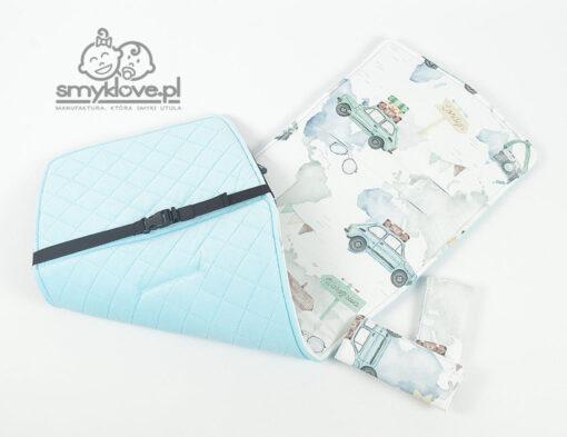 Wkładka do spacerówki Baby Design Lupo w maluchy i błękitny velvet - Smyklove