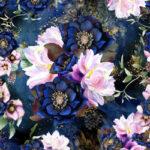 Bawełna premium dark floral- BP47
