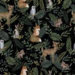 Bawełna premium nocny las – BP49