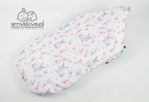 Tył śpiworka królik słodziak do gondoli lub spacerówki - Smyklove