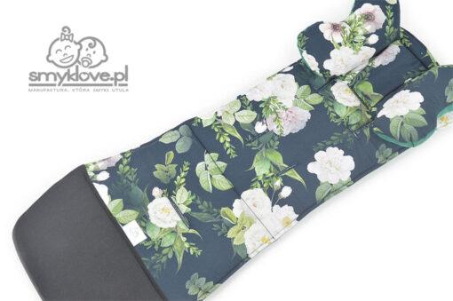 Wkładka do Cybex Melio z tkaniny secret garden z poduszką motylkiem z manufaktury Smyklove