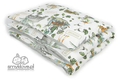 Zestaw pościeli do łóżeczka safari poszewki z kołdrą i poduszką - Smyklove