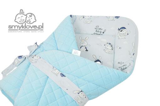 Rożek mały marzyciel z velvetem błękitnym pikowanym - SMYKLOVE