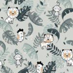 Bawełna premium tropikalne zwierzęta – BP57