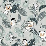 Bawełna premium tropikalne zwierzęta - BP57