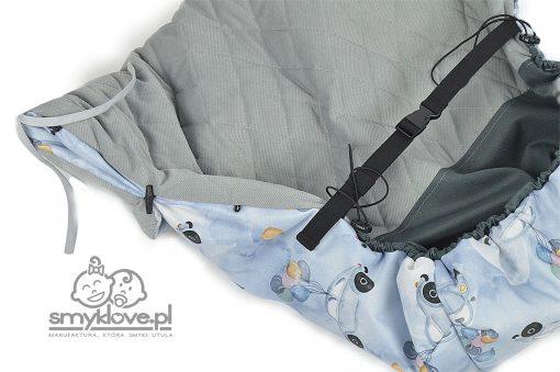 Regulacja długości wywijania osłonki oraz ściągacze w osłonce do wózka w garbusy od Smyklove